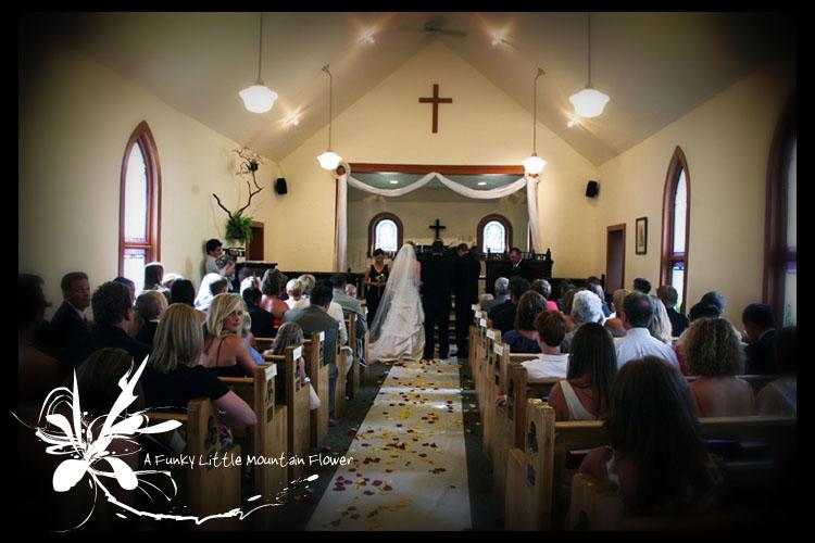 Small Church Quaint Town An Intimate WeddingMichelle Amp Matt Were Married A Funky Little